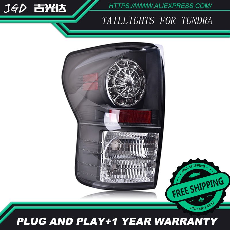 tail lights for Toyota Tundra 2007-2013 LED taillight Tail Lamp rear trunk lamp cover drl+signal+brake+reverse taillight dongfeng for peugeot 408 2013 taillight rear light tail lamp assembly tail lights