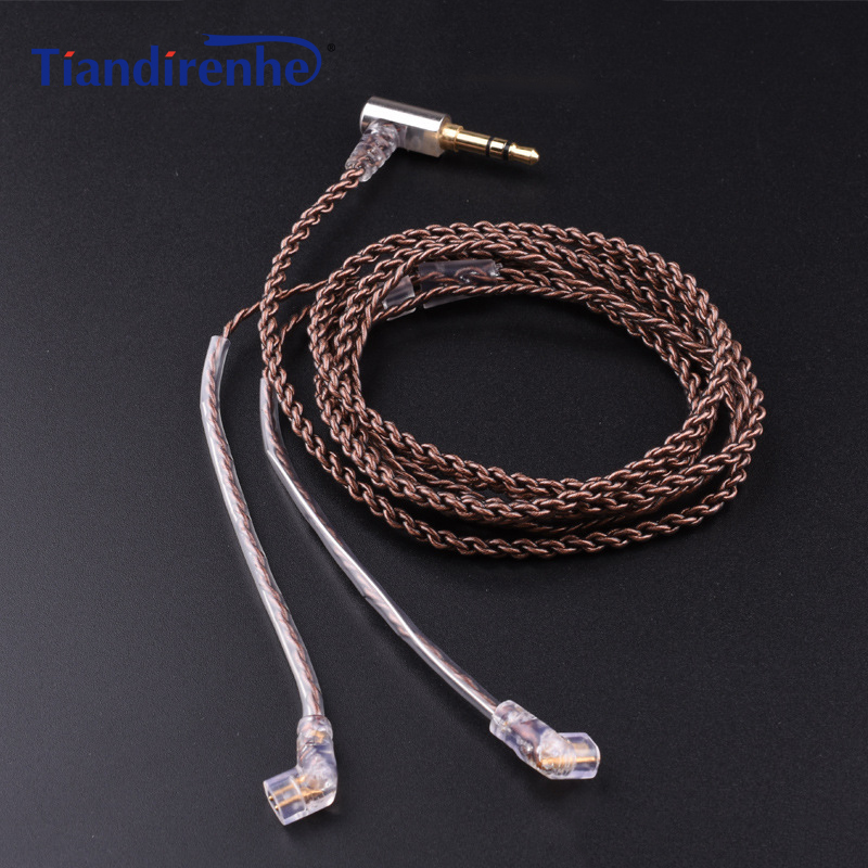 DIY <font><b>Cable</b></font> for ue18 11pro 10pro 7pro 4pro Earphone Headset Single Crystal Copper <font><b>0.75mm</b></font> <font><b>2</b></font> <font><b>Pin</b></font> <font><b>Cable</b></font> for iPhone xiaomi Android IOS image