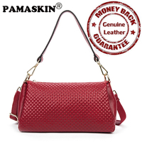 2017 Newest Brand Designer Multi Function Casual Feminine Handbag Premium Real Leather Embossing Practical Women Messenger