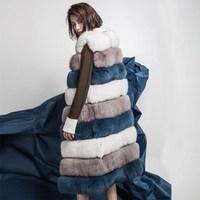 100% all natural fur fox fur coat sleeveless vest winter fur jacket