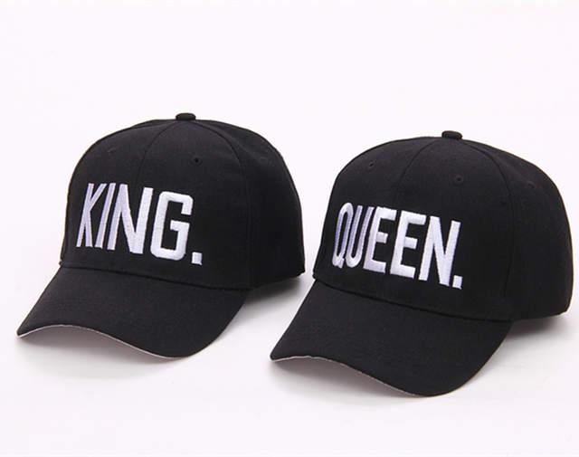 5d9f35cf698 Online Shop Couple Summer Baseball Cap KING QUEEN Letters Embroidery Snapback  Hat Acrylic Men Women Gifts Caps Hip Hop Hats adjustable