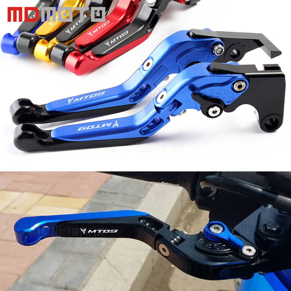 CNC Aluminum Levers For Yamaha MT-09/SR/FZ9 FZ09 2014-2017 FJ-09 MT09 Tracer Handlebar Adjustable Motorcycle Brake Clutch Lever for yamaha fz 09 mt 09 fj 09 mt09 tracer 2014 2016 motorcycle integrated led tail light brake turn signal blinker lamp smoke