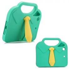 3D Cute Neckcloth Shirt EVA Shockproof Kids Case for iPad mini 1 2 3 4 Handle EVA Foam stand tablet cover Case funda mini 4 case 20010 thick shockproof eva back case w 180 degree rotatable handle holder for ipad 4 green