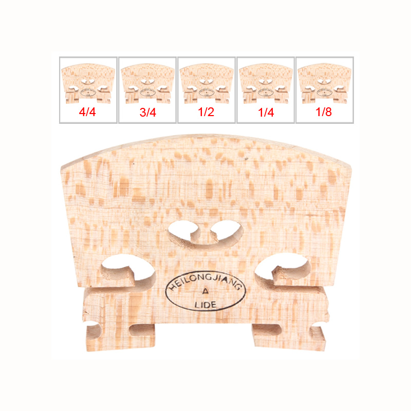 10 pcs/lot Maple Violin Bridge 4/4 3/4 1/2 1/4 1/8 High Quality Violin Accessories