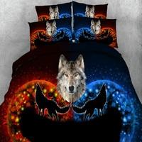 3D Bedding Set Horse Wolf Elephant Dog Human Printed Bedding Animal Print Bedclothes Duvet Cover Set Quilt Cover Bed Linens