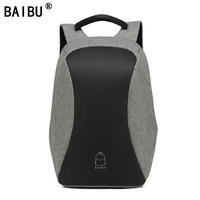 BAIBU Men Backpack Anti theft multifunctional Oxford Casual Laptop Backpack With USB Charge Waterproof Travel Computer Bagpack