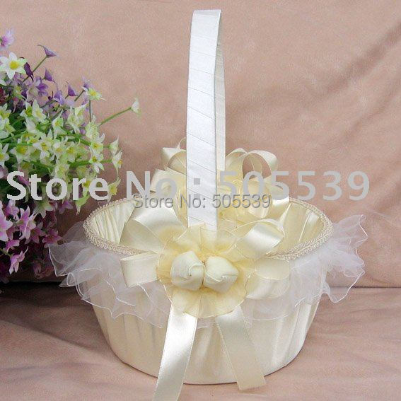 flower basket for wedding 2011 free shipping wedding decoration flower basket 4132