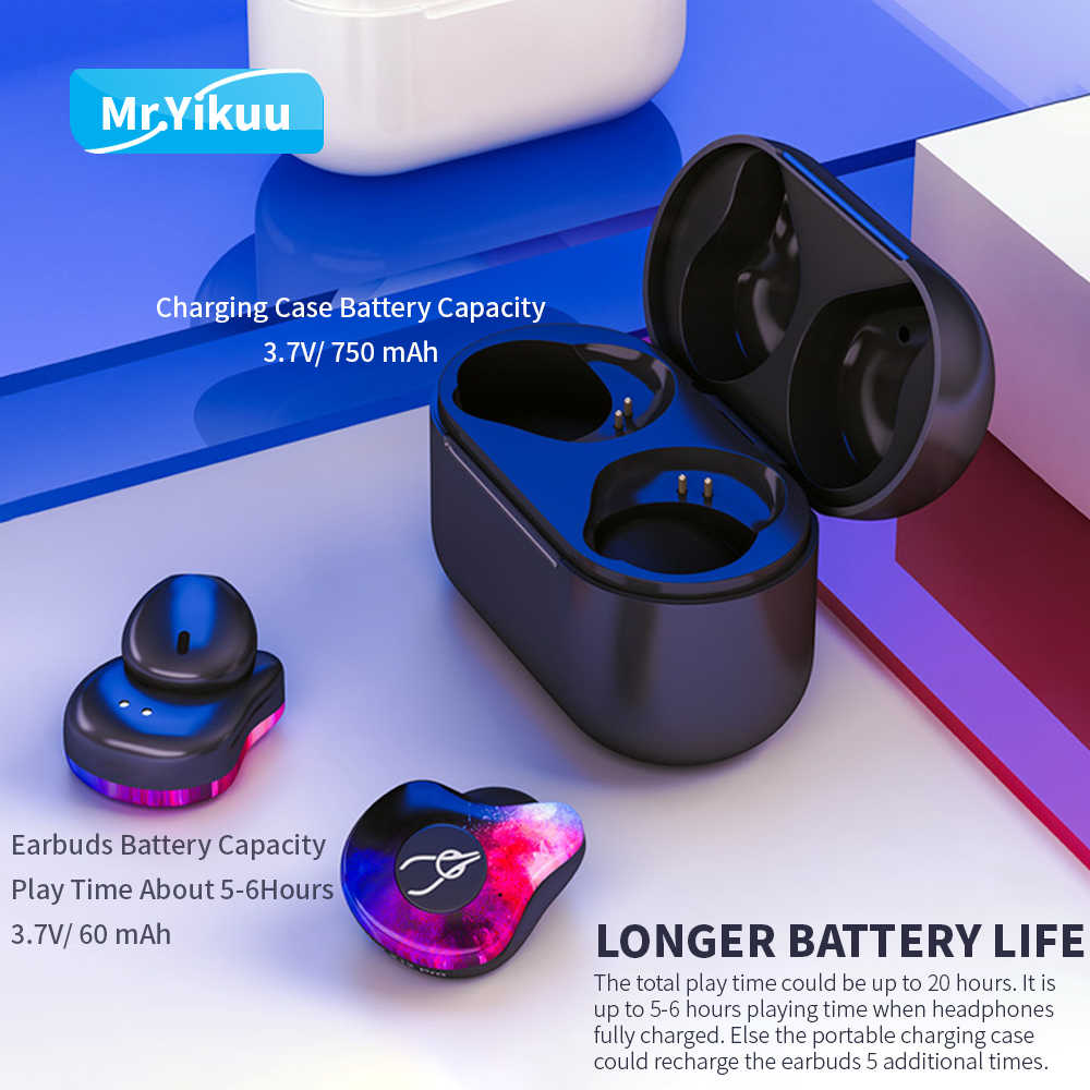 8ce11526196 ... True Wireless Stereo Earbuds Games Bluetooth 5.0 Headset Deep bass Wireless  Earphones with Mic Handsfree For ...