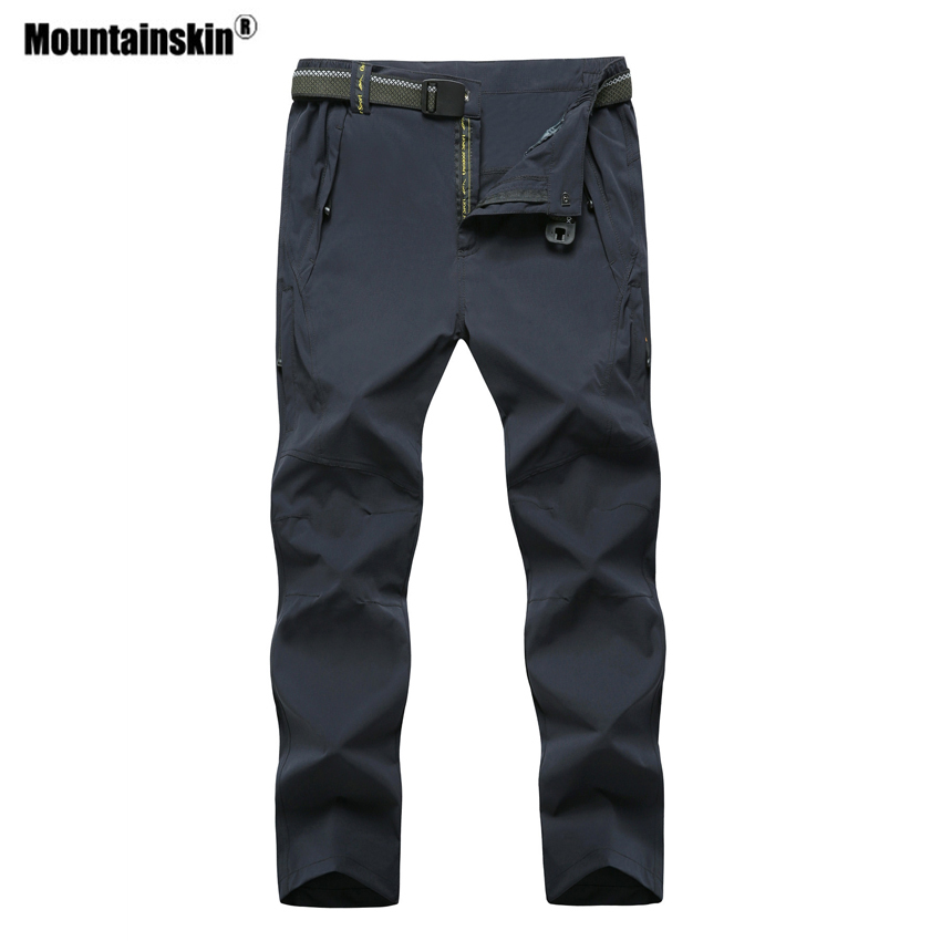 Mountainskin Men's Quick Dry Outdoor Sports Hiking Pants Plus Size 8XL Breathable Camping Trekking Fishing Brand Trousers VA298 outdoor softshell hiking pants men 5xl 6xl 7xl 8xl waterproof breathable bottoms male trekking sports large size trousers