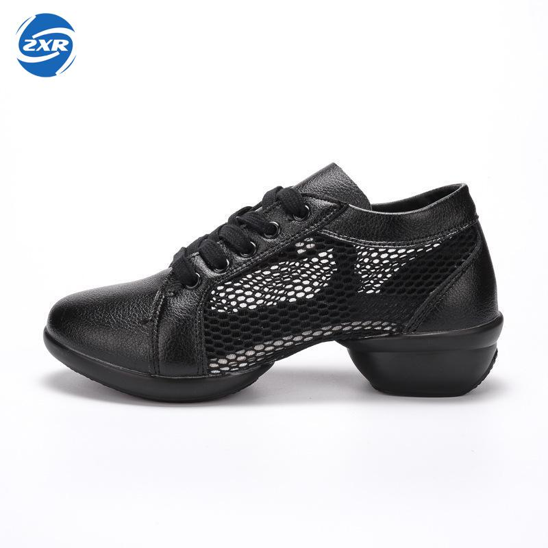 Women Leather Comfortable Modern Dance Shoes Jazz Majoring In Pop Dance Lady Sports Anti-slip Lacing Light Weigh Female Sneakers intercultural contemporary dance in malaysia