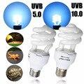 Pet Luz Lâmpada E27 13 W UVB5.0/UVB10.0 Selva Deserto Luz Fluorescente Compacta Terrário Réptil Animal de Estimação Lâmpada de Iluminação da lâmpada 110-240 V