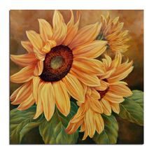 charmante sonnenblumen 30×30 kreuzstich diy voller diamanten zeichnung Platz Sanitätshäuser stickerei paste mosaik hauptdekoration