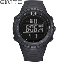 GIMTO Luxury Brand Mens Sports Watches Dive 50m Digital LED Military Watch Men Fashion Casual Electronics