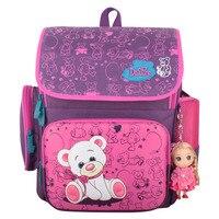 New Cartoon Bear Backpack School Satchel Children School Bags Orthopedic Waterproof Backpacks Girls School Backpacks