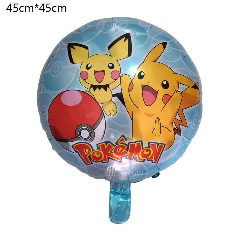 Cartoon Pikachu Pokemon Go Foil Balloons Children Inflatable Toys Helium Birthday Party Decorations Kids