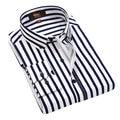 2016 Высокое Качество Мужские Рубашки Хлопка С Длинным Рукавом Мужская Рубашка рубашки в Полоску Бизнес Мужчины Повседневная Рубашка Slim Fit Plus Размер Camisas
