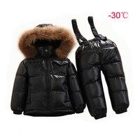30 Russian Winter Baby Onesie Kids Duck Down Suit Infant Overcoat Waterproof Jumpsuit Boys Girl