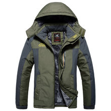 8XL Mannen Jassen Plus Size Winter mannen Parka Dikke Fleece Outdoor Warme Jas Mannen Jassen Hooded Jassen Heren Kleding l-9XL(China)