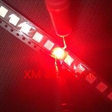 200 шт./лот поверхностное крепление настоящий 5050 Красный Smd Plcc-6 3 чипы ультра яркий светильник светодиод диоды
