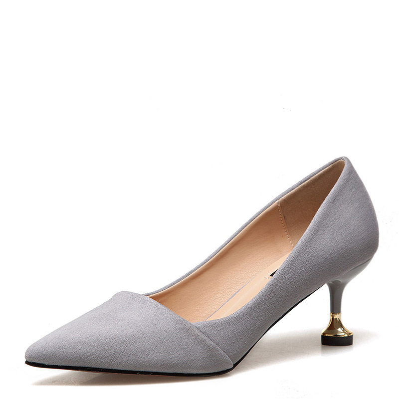 shallow pointed shoes women new Korean autumn fashion women 39 s shoes suede high heels women luxury shoes women designers in Women 39 s Pumps from Shoes