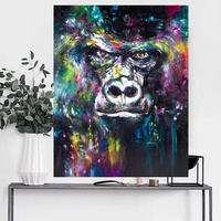 Hand Painted Painting Home Decor Modern Gorilla Monkey Oil Painting Wall Painting Canvas For Room