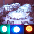DHL Free Shipping RF Remote Controlled Multicolors RGB LED Under Table Light For Wedding Party Event Rechargeable Table LIghting