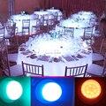 DHL Frete Grátis Multicolors RF Controle Remoto RGB LEVOU Sob A Luz Da Tabela Para A Festa de Casamento Evento Recarregável Mesa de Iluminação