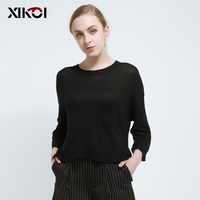 2017 Thin Short Tops Sweater Women Jumper O Neck Casual Pullovers and Sweaters Womens Summer Spring Knitwear Top Clothing