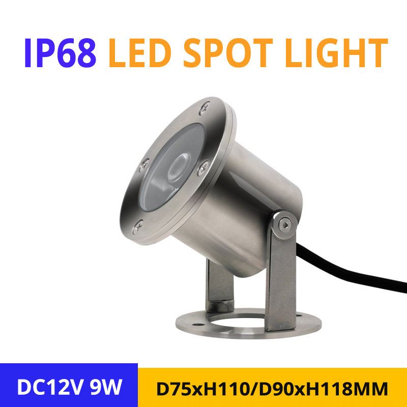 Clever 10pcs/lot Ip68 9w Rgb Led Spotlight Dc12v Outdoor Garden Street Stairway Ground Multicolor Lighting D75/90mm Underwater Led Lamp Providing Amenities For The People; Making Life Easier For The Population Led Lamps