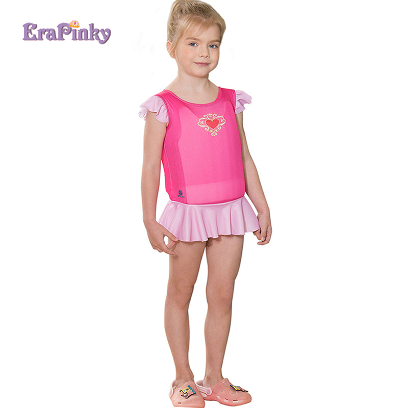 Pink Heart One Piece Swimsuit Toddler Life Jacket Kids