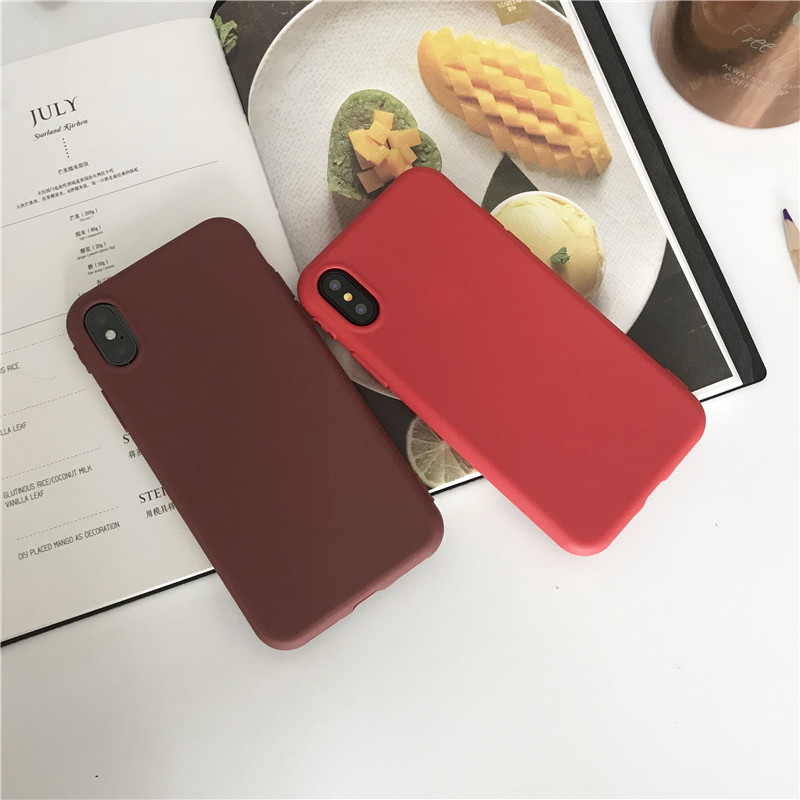 Original Anti-Knock Candy Color Silicone Cases for iPhone X Cute TPU Case for iPhone X Case Shockproof Protection 360 Body...  iphone x cases 360 protection Original Anti Knock Candy Color Silicone font b Cases b font for font b iPhone b