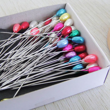 144pcs Colorful Drops pearl head pin Weddings Corsage Florists Dressmaking Decorating Sewing Pins patchwork Craft Tool
