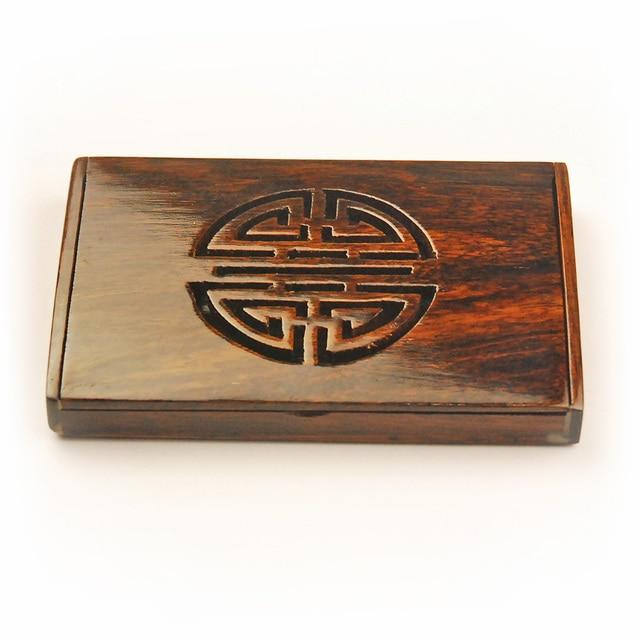 Gros Naturel Squoia Cas Pour Cartes De Visite Classique Style SPA Club Senior Cardcase Main Nom