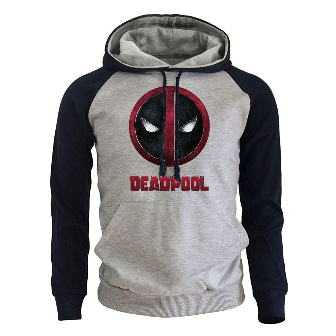2019 New Arrival Raglan Hoodies DEADPOOL Fashion Funny Printed Casual Men's Sweatshirts Fleece Streetwear Man Hooded Tracksuit