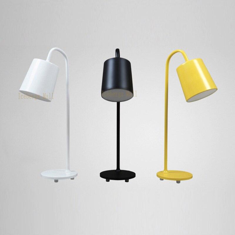 Nordic Iron Metal Standing LED Table lamp For Bar Bedside Living Room Room Creative LED Desk Lamp Modern Study Table Light