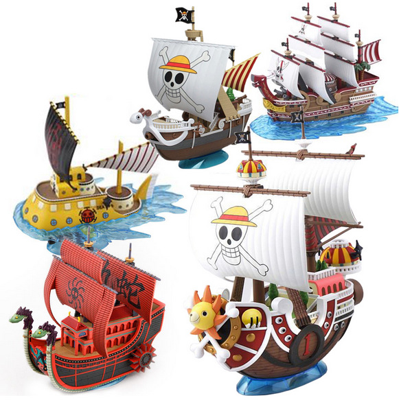 New one piece luffy Shanks Boa Hancock Trafalgar Law Pirate Ship THOUSAND SUNNY Going Merry DIY Assembling toy model hot sale free shipping new anime one piece boa hancock pvc action figure hancock fighting style figure model toy 15cm