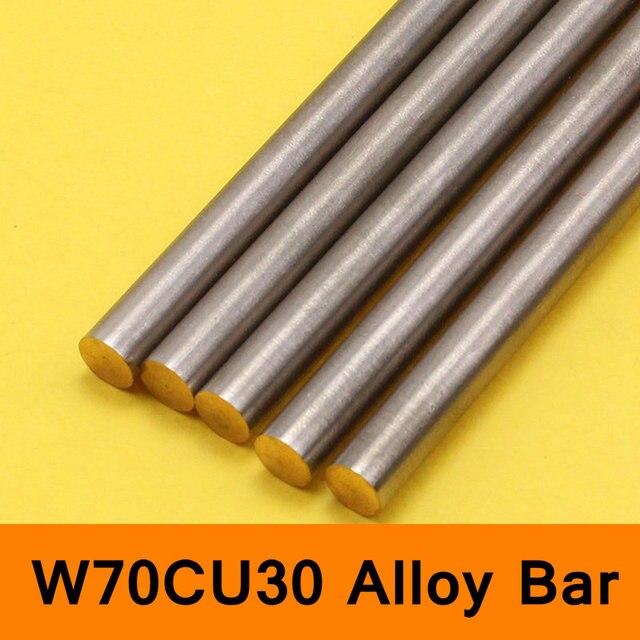 Tungsten Copper Alloy Bar Rod W70Cu30 W70 Bar Spot Welding Electrode DIY Material CE ISO Certificate Round Bar Length 200mm