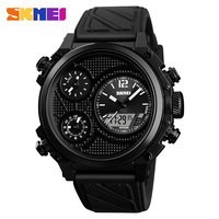 SKMEI Men Quartz Watches Man Military Waterproof Wristwatches Outdoor Sport Watch 5 Time 12 24 Hour