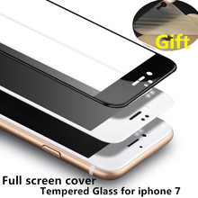 Full cover Screen Protector Tempered Glass For iphone 7 plus 4.7/5.5 Protective Film Soft edge and Hard edges