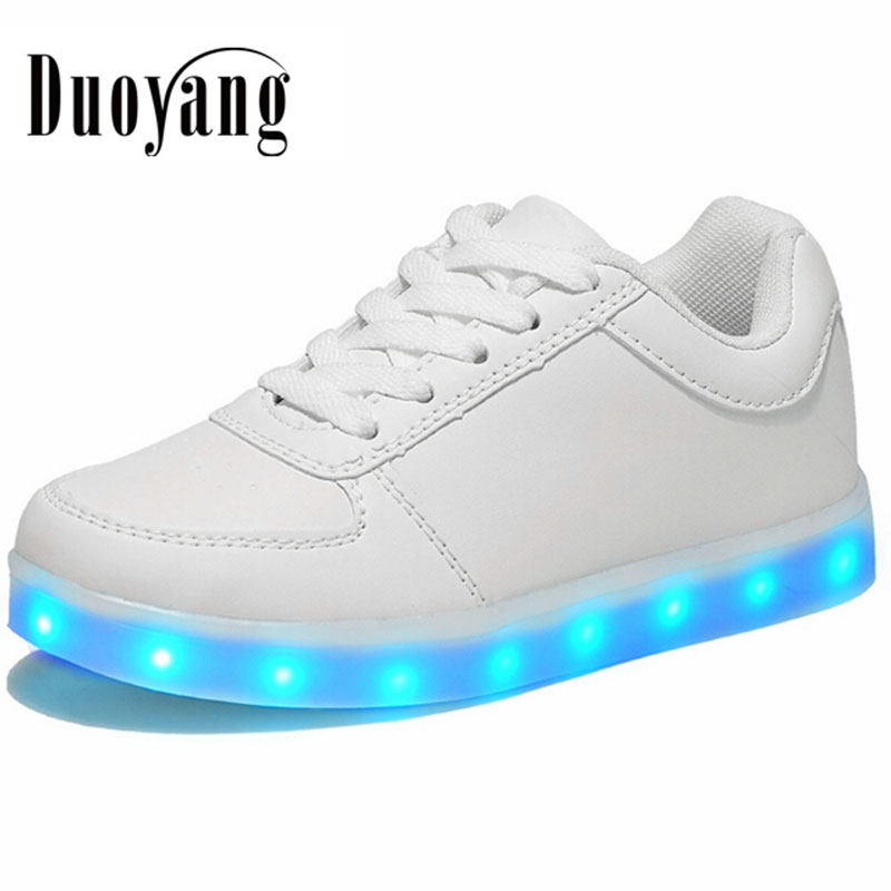 Scarpe led per donne adulte scarpe led luminosi caldo 2017 plus size scarpe casual donna