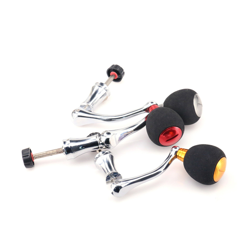 Aluminum Alloy Fishing Reel Handle Knob Fishing Tackle Accessories Spinning Reel Foldable Rocker Be applicable 99% Reel