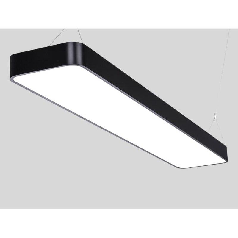 Iluminação de escritórios modernos arredondado LEVOU escritório de luz pingente de fio de alumínio retangular simples moderna iluminação comercial BG5