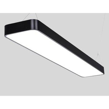 Modern office lighting rounded LED office aluminum wire pendant light rectangular simple modern commercial lighting BG5