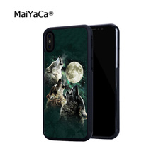 цена на The wolf hot sell soft edge hard back mobile phone cases for iphone 4s 5 5c 5s 5se 6s 6plus 7 7plus case cover