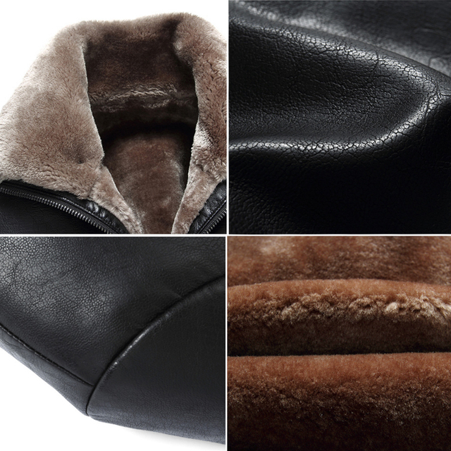 Holyrising Black men winter warm lamb woolen casual jacket men faux leather jacket coat chaqueta cuero hombre 18450-5