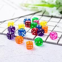 10 шт./компл. Портативный настольные игры в кости 6 сторонее акриловое с закругленной вершиной для кубик для настольной игры цифровой кубики вечерние азартные игры Кубики 14 мм