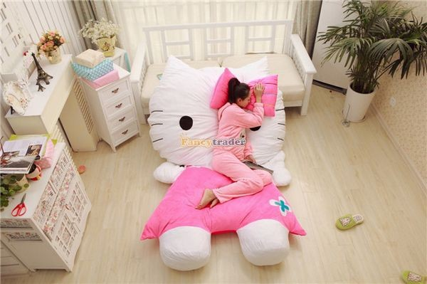 Fancytrader 200cm X 150cm Soft Lovely Huge Giant Pink Hello Kitty Double Bed Carpet Sofa, FT50313 (3)
