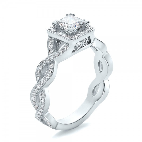 Halo 1ct Simulate Diamond 925 Sterling Silver Jewelry