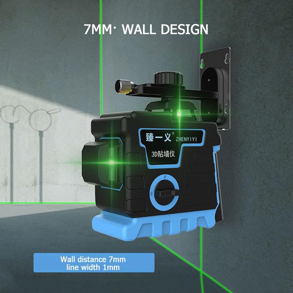3D 12 linhas Verde Auto-Nivelamento Nível Laser instrumento Horizontal e Vertical de nivel a laser 360 autonivelante Cruz Super Laser