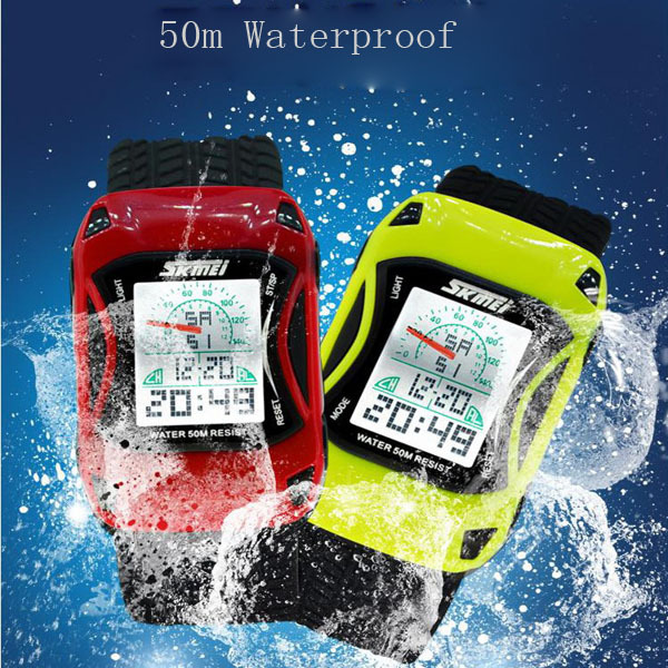 f8cc714179a 2015 Skmei 0961 LED Digital Cartoon Watch 50m Waterproof Dive Swim Sport  Children Watch Jelly Silicone Kids Watch Relogio reloj-in Children s  Watches from ...